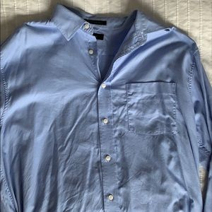 Blue patterned Long Sleeve Oxford